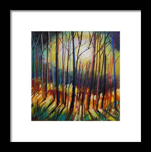 Landscape Framed Print featuring the painting Ribbons Of Moonlight by John Williams