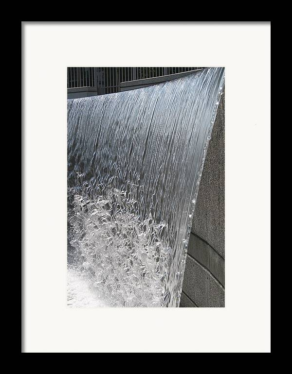 Waterfall Framed Print featuring the photograph Ribbons Of Water by Janet Hall