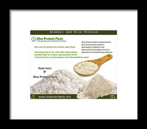 Arsenic And Rice Protein Framed Print featuring the digital art Rice Protein And Arsenic by Riceproteinfacts