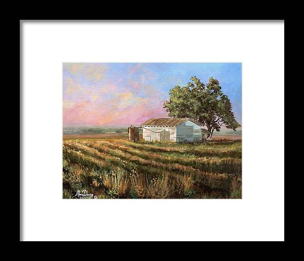 Texas Framed Print featuring the painting Rich Morning by Mona Davis
