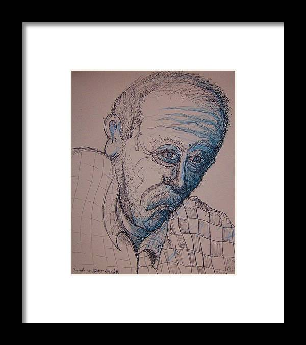 Ahlzimers Disease Framed Print featuring the painting Richard is leaving by Richard Hubal