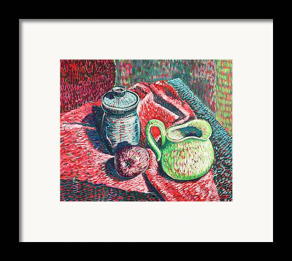Still Life Framed Print featuring the painting Richards Pitcher In Green by Rollin Kocsis