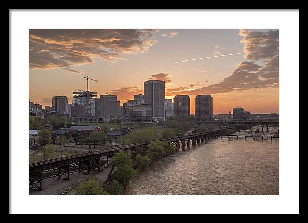Richmond Framed Print featuring the photograph Richmond Va Spring Sunrise by Doug Ash