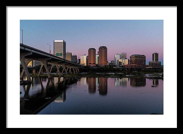 Rva Framed Print featuring the photograph Richmond's Purple Reflection by Doug Ash