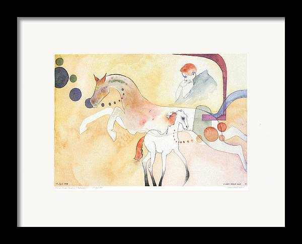 Surreal Framed Print featuring the painting Rick And Rocket by Eileen Hale