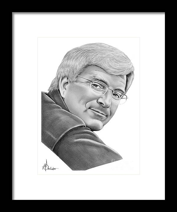 Pencil Framed Print featuring the drawing Rick Steves by Murphy Elliott