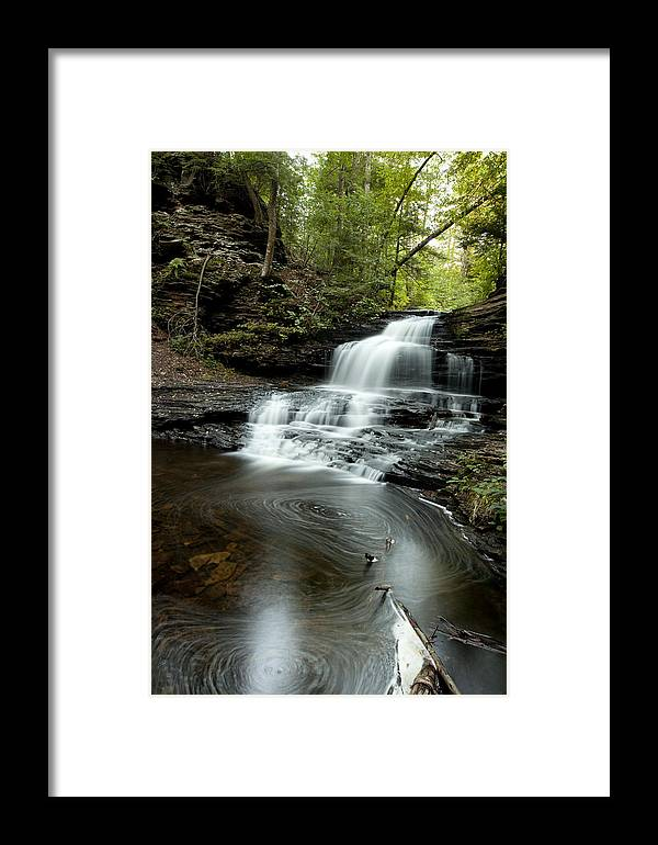 Water Falls Framed Print featuring the photograph Rickets Glen 4 by Christina Durity