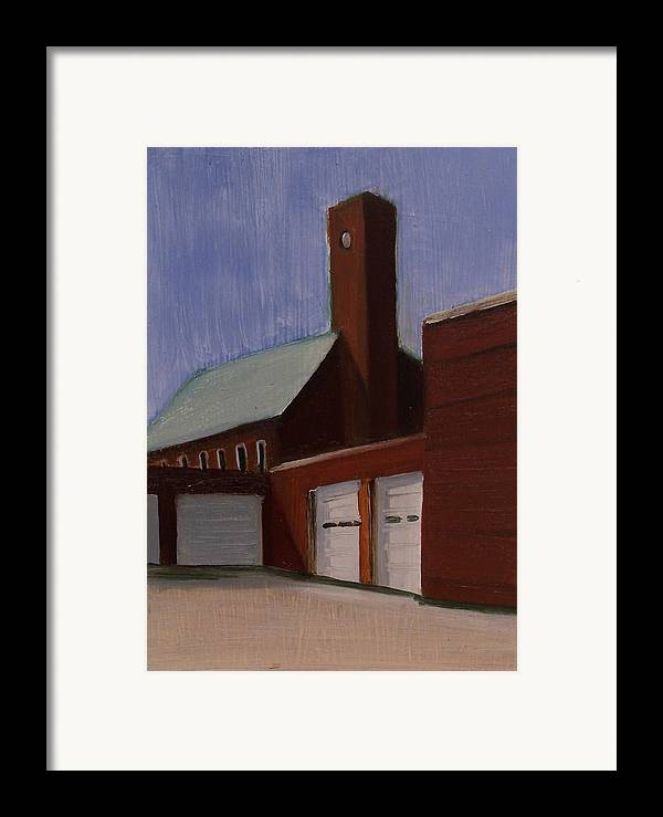 Suburbanscape Framed Print featuring the painting Ridgefield Park Dpw by Ron Erickson