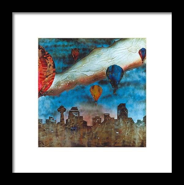 Landscape Framed Print featuring the painting Riding The Chinook by Rick Silas