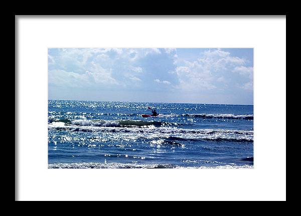 Ocean Framed Print featuring the photograph Riding The Waves by Evelyn Patrick