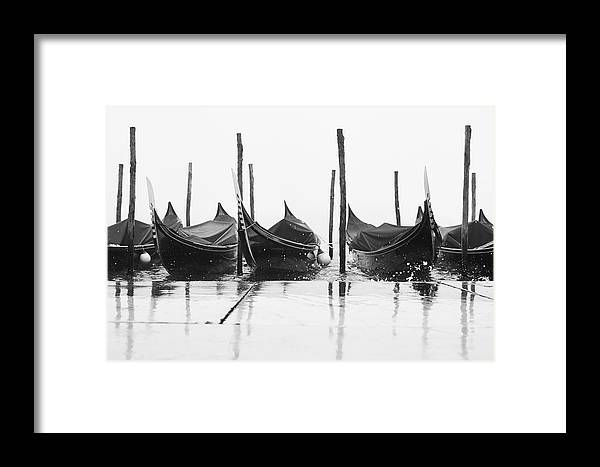 Venice Framed Print featuring the photograph Riflessi Di Gondole 03776 by Marco Missiaja