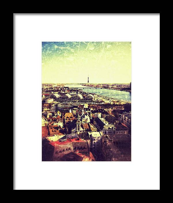 Baltic Framed Print featuring the photograph Riga by Lasse Ansaharju
