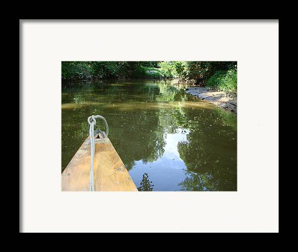 Canoe Framed Print featuring the photograph Right There With Me ... by PJ Cloud
