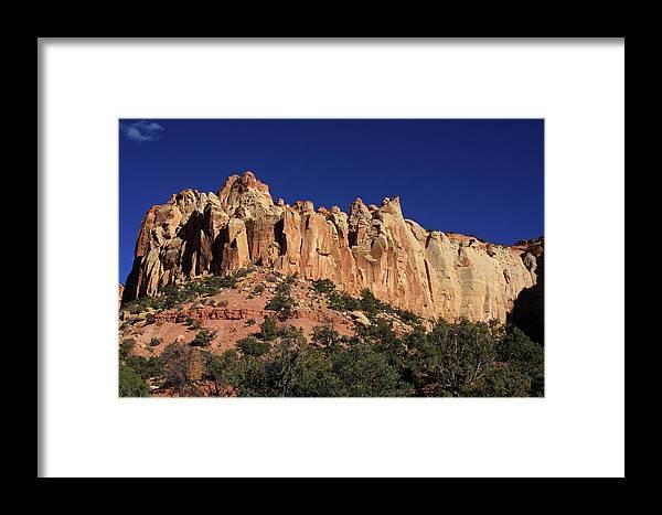 Utah Framed Print featuring the photograph Rimrocks, State Of Utah by Aidan Moran