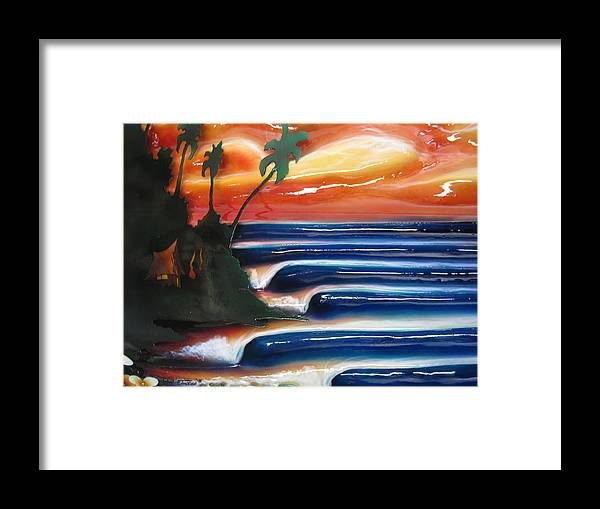 Surf Framed Print featuring the sculpture Rincon by Ronnie Jackson
