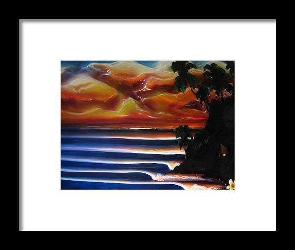 Surf Framed Print featuring the sculpture Rincon2 by Ronnie Jackson