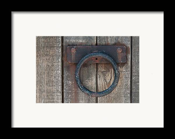 Door Framed Print featuring the photograph Ring Knock by Dan Holm