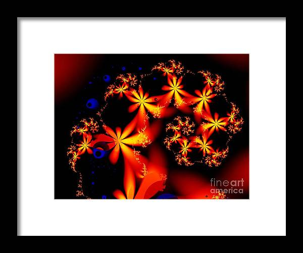 Flowers Framed Print featuring the digital art Ring of Posies by Ron Bissett