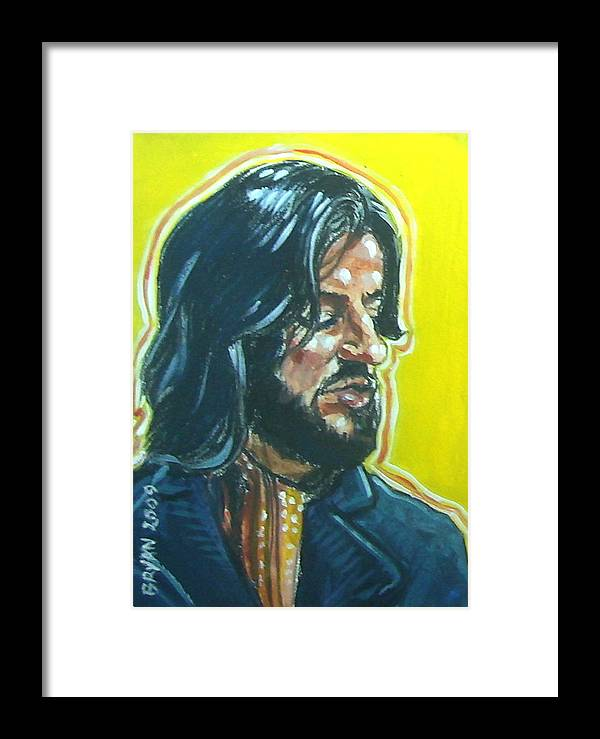 Ringo Starr Framed Print featuring the painting Ringo Starr by Bryan Bustard