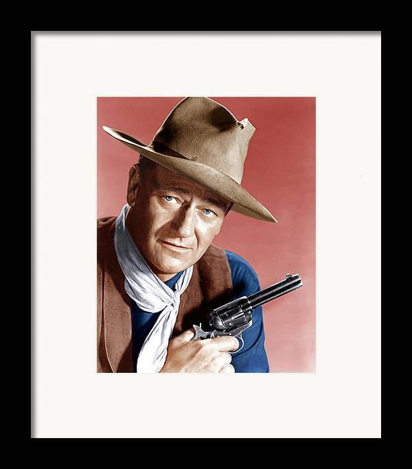 1950s Portraits Framed Print featuring the photograph Rio Bravo, John Wayne, 1959 by Everett