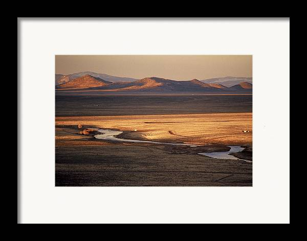 Landscape Framed Print featuring the photograph Rio Grande Evening by Lynard Stroud