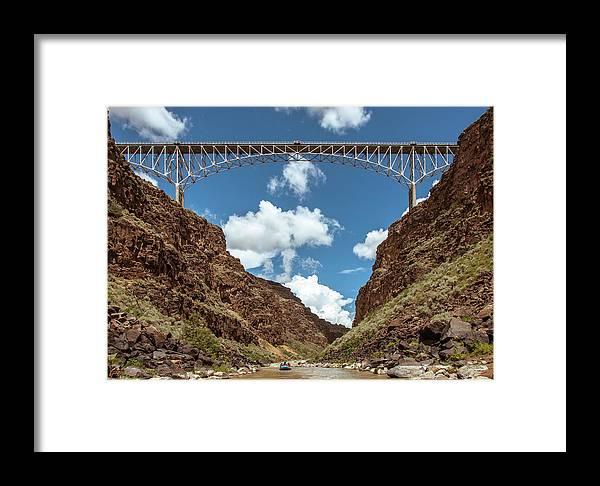 New Mexico Rio Grande Wild And Scenic River Framed Print featuring the photograph Rio Grande Gorge Bridge by Britt Runyon