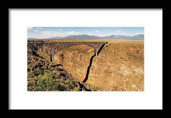 New Mexico Framed Print featuring the photograph Rio Grande Gorge Bridge Taos New Mexico by Lawrence S Richardson Jr