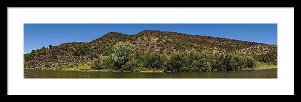 New Mexico Framed Print featuring the photograph Rio Grande Panorama Pilar New Mexico by Lawrence S Richardson Jr