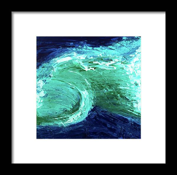 Ocean Framed Print featuring the painting Rip Tide by K Batson Art