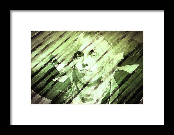 Tom Petty Framed Print featuring the painting Rip Tom Petty by Enki Art