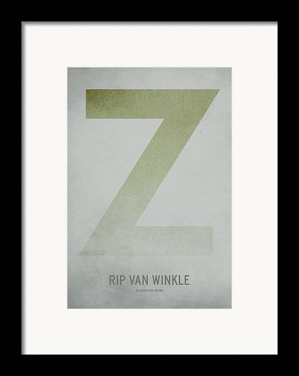 Stories Digital Art Framed Print featuring the digital art Rip Van Winkle by Christian Jackson