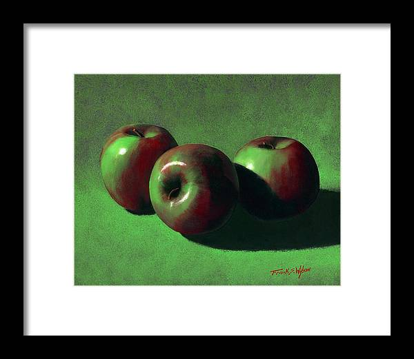 Still Life Framed Print featuring the painting Ripe Apples by Frank Wilson
