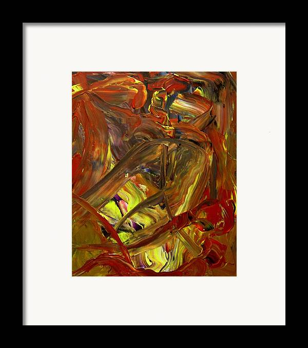 Abstract Framed Print featuring the painting Ripe Reverence by Karen L Christophersen