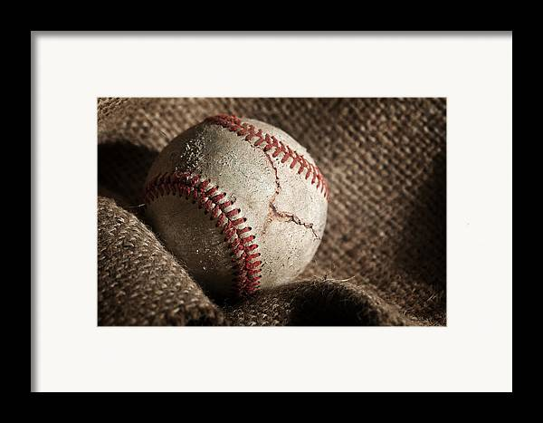 Baseball Framed Print featuring the photograph Ripped One by Tom Mc Nemar