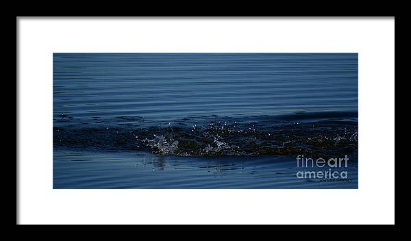 Waves Ripples In Lake Framed Print featuring the photograph Ripples by Joanne Smoley