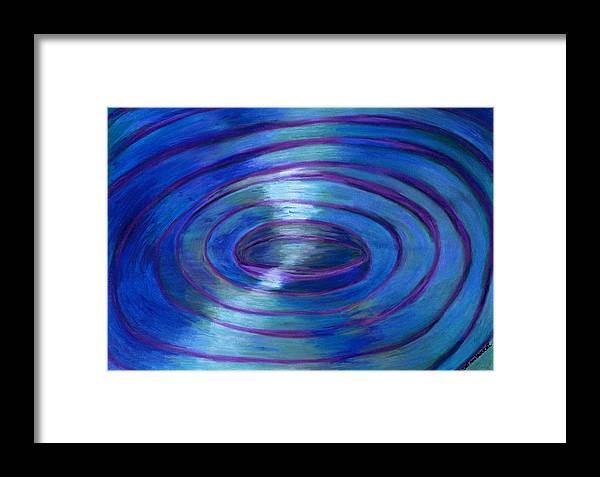 Watercolor Crayon Framed Print featuring the painting Ripples by Nancy Brockett