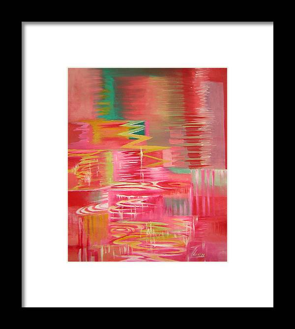 Abstract Framed Print featuring the painting Ripples No.3 by Lian Zhen
