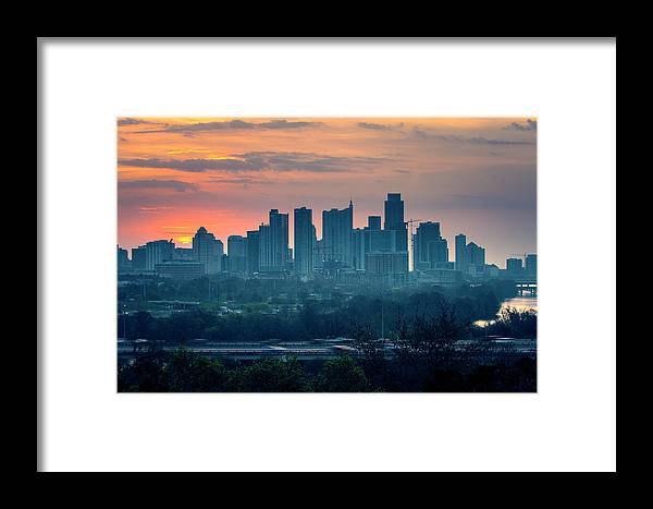 Austin Framed Print featuring the photograph Rise by Jay Anne Boza