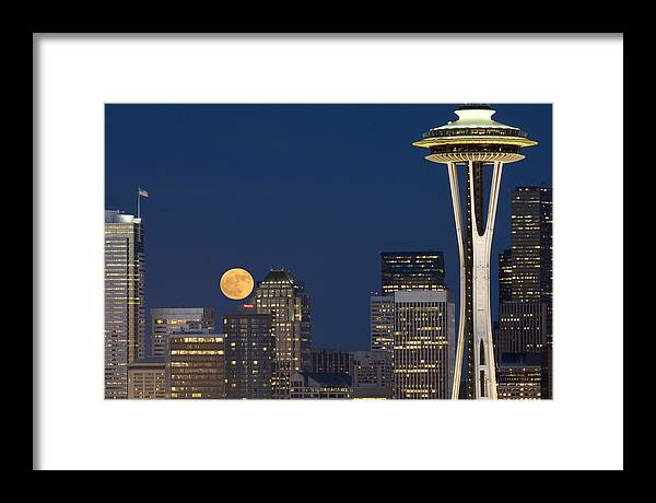 Seattle Framed Print featuring the photograph Rising From Buildings A142 by Yoshiki Nakamura