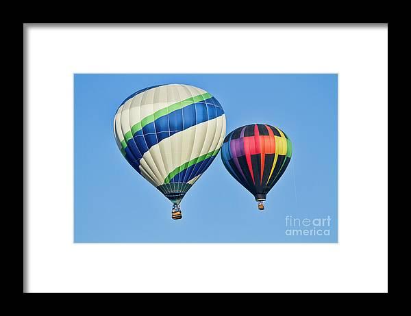 Hot Air Ballons Framed Print featuring the photograph Rising High by Arthur Bohlmann