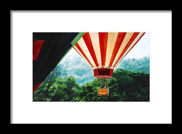 Balloons Framed Print featuring the painting Rising Mist by Keith Gantos