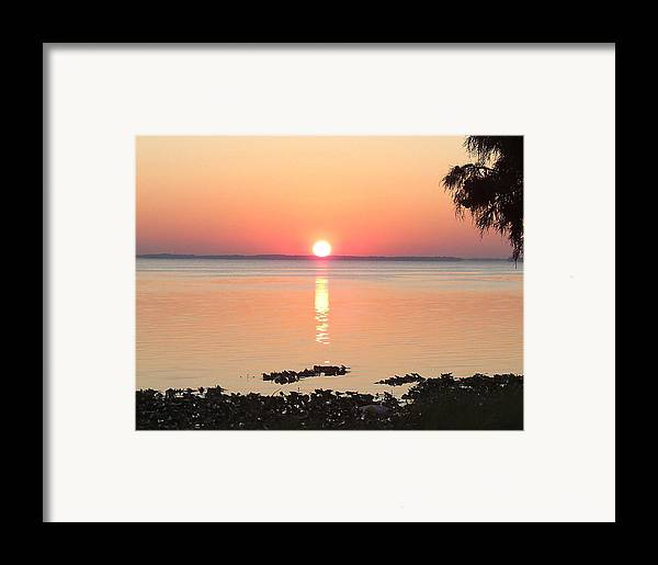 Sunrise-sunset Photographs Framed Print featuring the photograph Rising Sun by Frederic Kohli