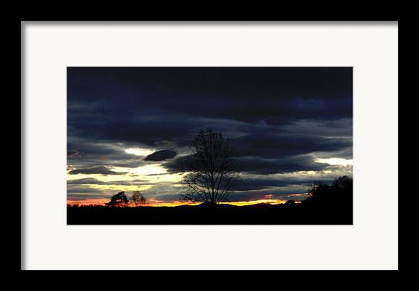 Landscape Framed Print featuring the painting Rising Sun by Penny Everhart