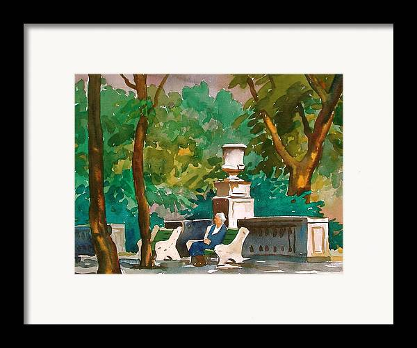 Figure Framed Print featuring the painting Rittenhouse Square by Faye Ziegler