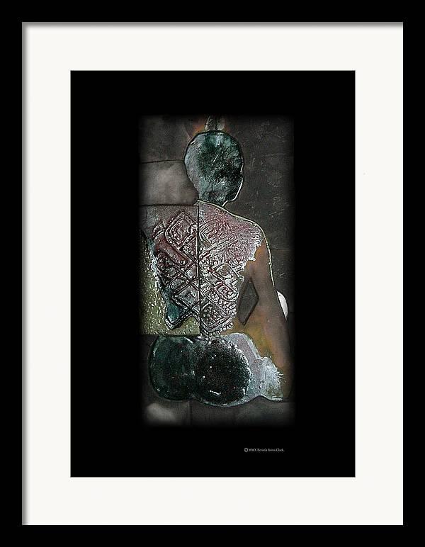 Print Framed Print featuring the ceramic art Ritual Transformation by Bates Clark