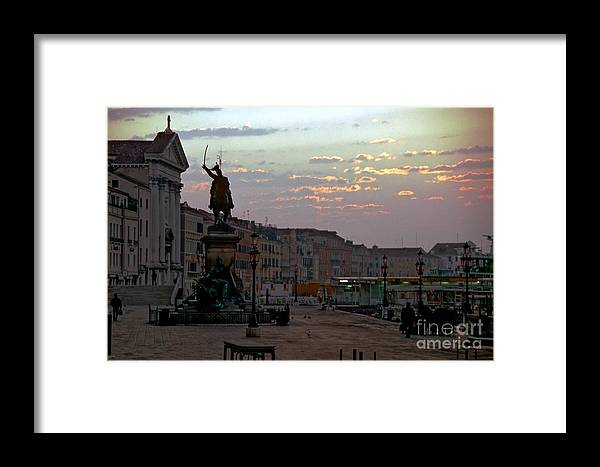 Venice Framed Print featuring the photograph Riva Schiavoni In Venice In The Morning by Michael Henderson
