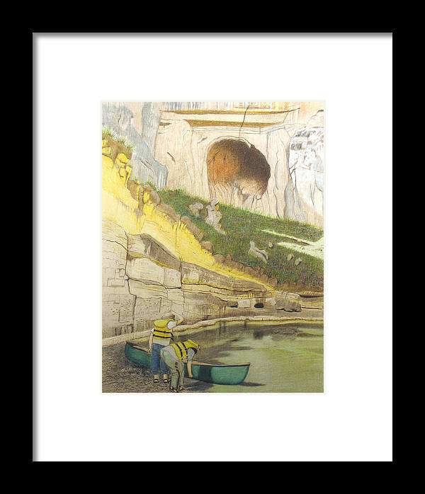River Framed Print featuring the painting River Adventure by Myrna Salaun