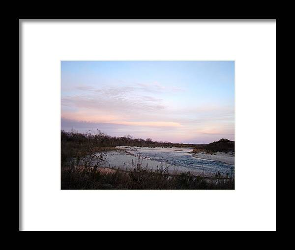 River Framed Print featuring the photograph River At Dusk One by Ana Villaronga