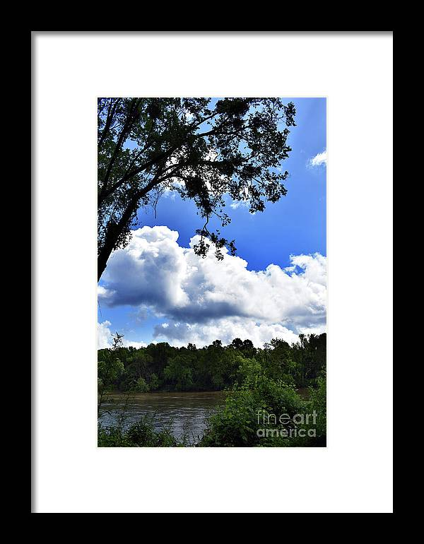 Scenic Framed Print featuring the photograph River Banks by Skip Willits
