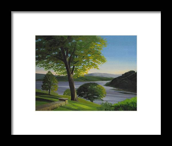 Landscape Framed Print featuring the painting River Bend by Robert Rohrich